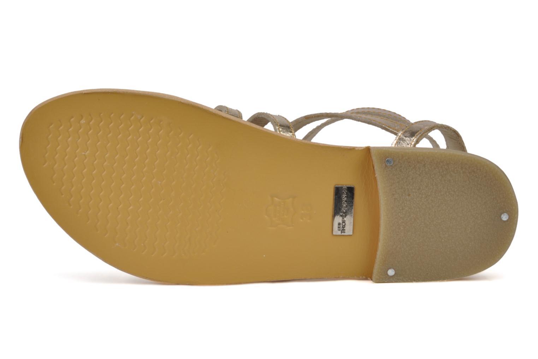 Sandales et nu-pieds Les Tropéziennes par M Belarbi Hic Or et bronze vue haut