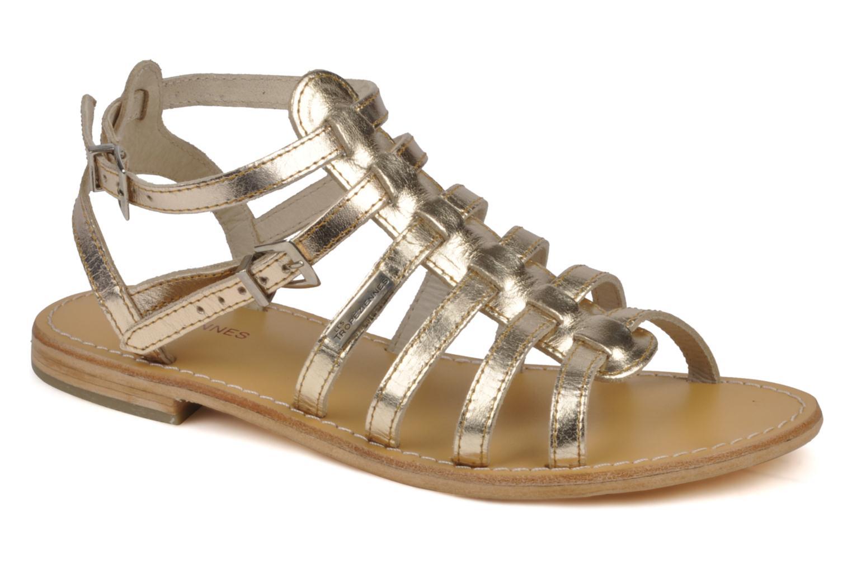 Sandales et nu-pieds Les Tropéziennes par M Belarbi Hic Or et bronze vue détail/paire