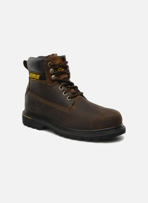 Ankle boots Caterpillar Holton SB Brown detailed view/ Pair view