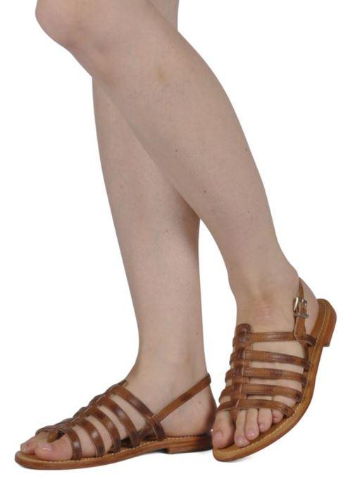 Sandales et nu-pieds Les Tropéziennes par M Belarbi Heriber Marron vue bas / vue portée sac