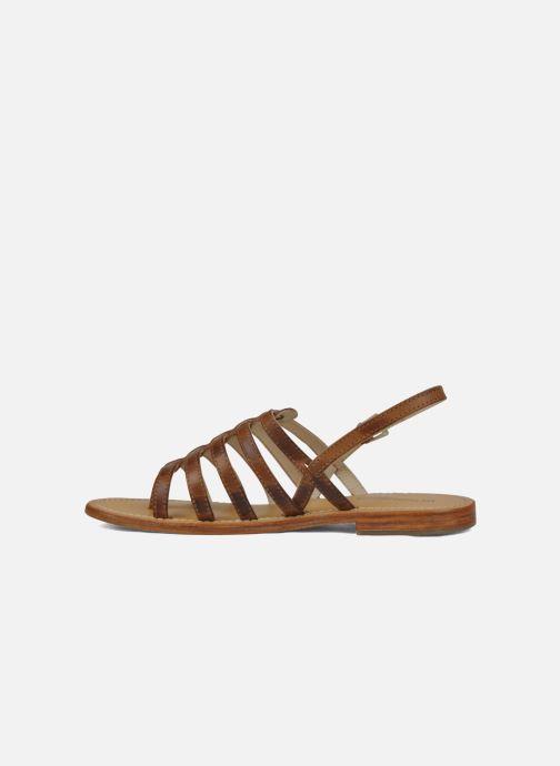 Sandales et nu-pieds Les Tropéziennes par M Belarbi Heriber Marron vue face