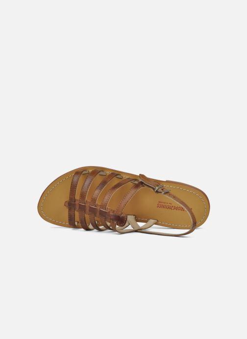Sandales et nu-pieds Les Tropéziennes par M Belarbi Heriber Marron vue gauche