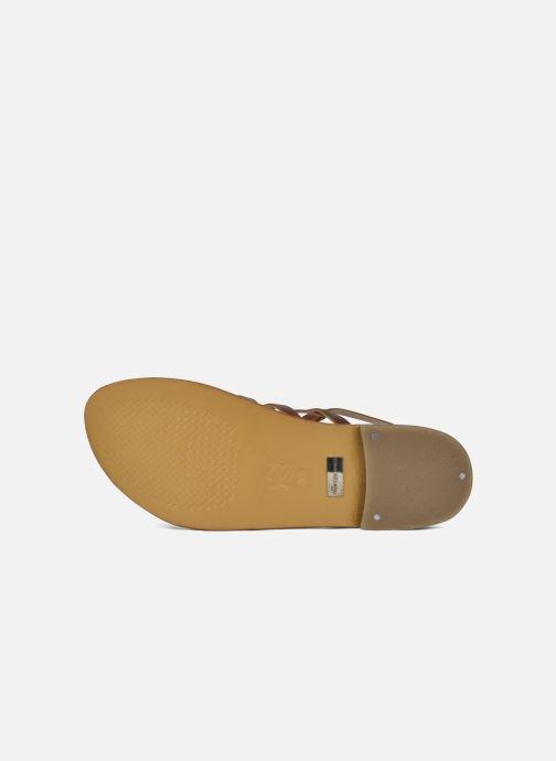 Sandales et nu-pieds Les Tropéziennes par M Belarbi Heriber Marron vue haut