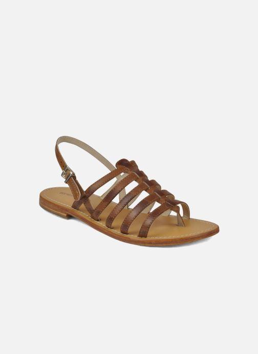 Sandales et nu-pieds Les Tropéziennes par M Belarbi Heriber Marron vue détail/paire