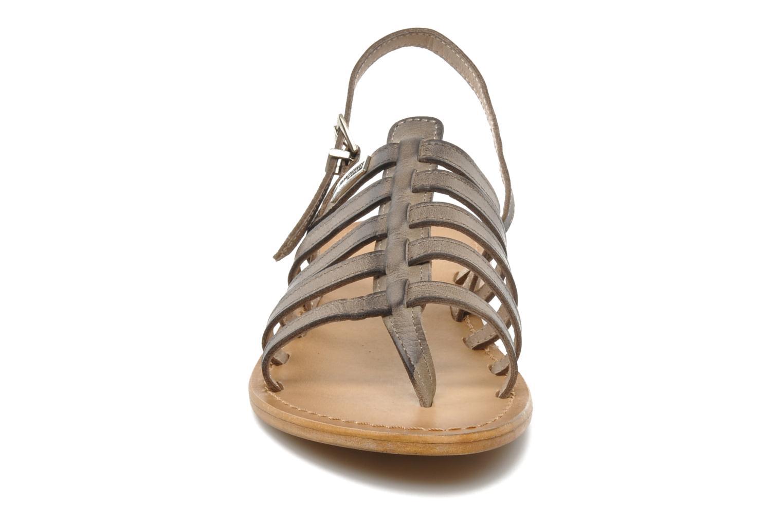 Sandales et nu-pieds Les Tropéziennes par M Belarbi Heriber Gris vue portées chaussures