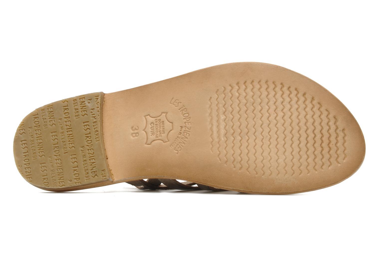 Sandales et nu-pieds Les Tropéziennes par M Belarbi Heriber Gris vue haut