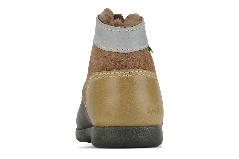 Stiefeletten & Boots Kickers Babyski braun ansicht von rechts