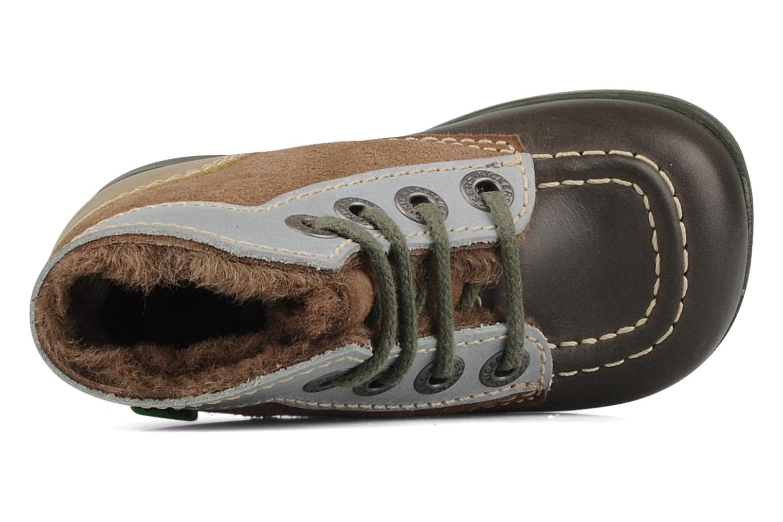 Stiefeletten & Boots Kickers Babyski braun ansicht von links