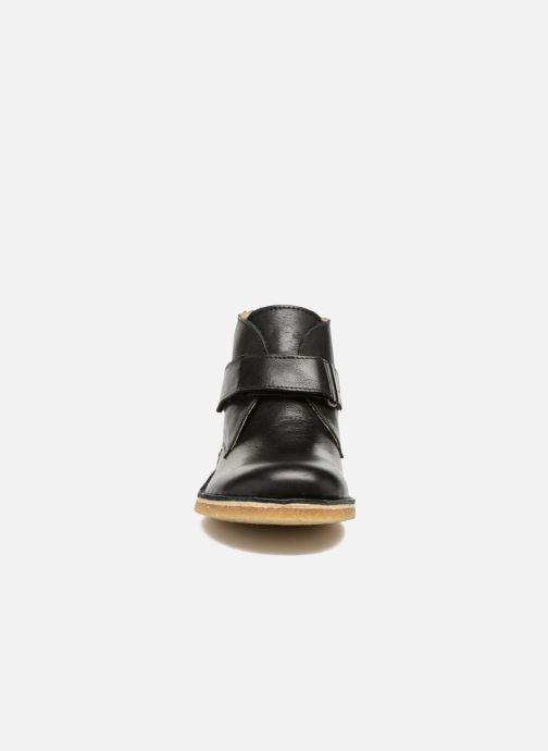 Chaussures à scratch Kickers Rekick Noir vue portées chaussures
