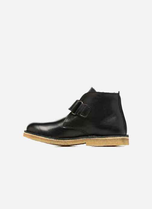 Chaussures à scratch Kickers Rekick Noir vue face