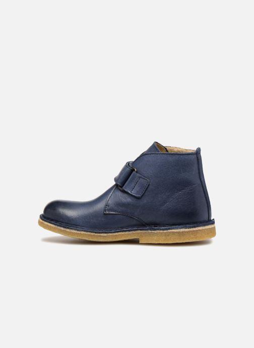 Chaussures à scratch Kickers Rekick Bleu vue face