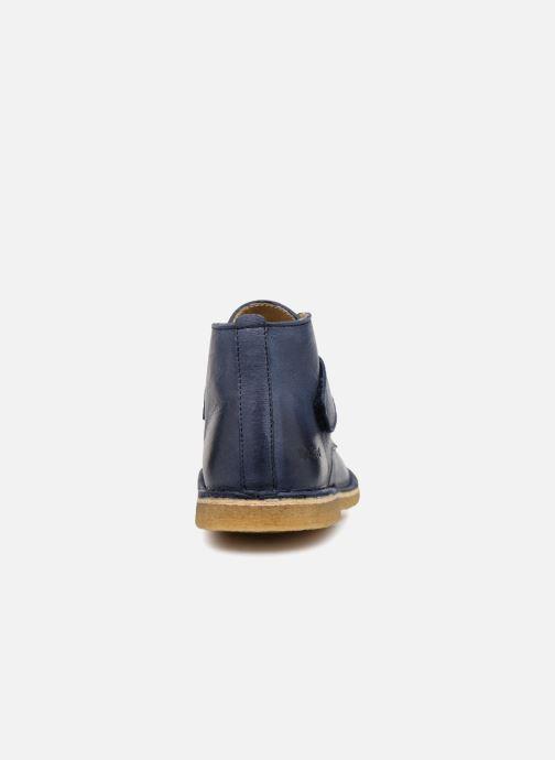 Chaussures à scratch Kickers Rekick Bleu vue droite