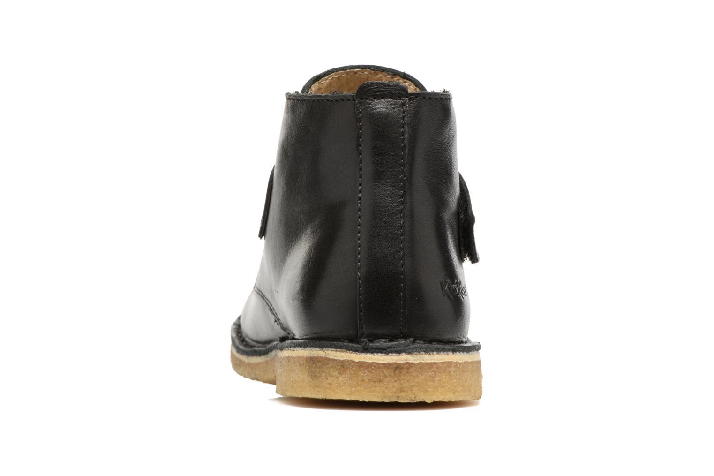 Chaussures à scratch Kickers Rekick Noir vue droite
