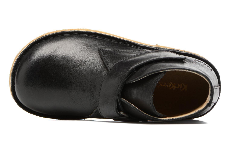 Chaussures à scratch Kickers Rekick Noir vue gauche