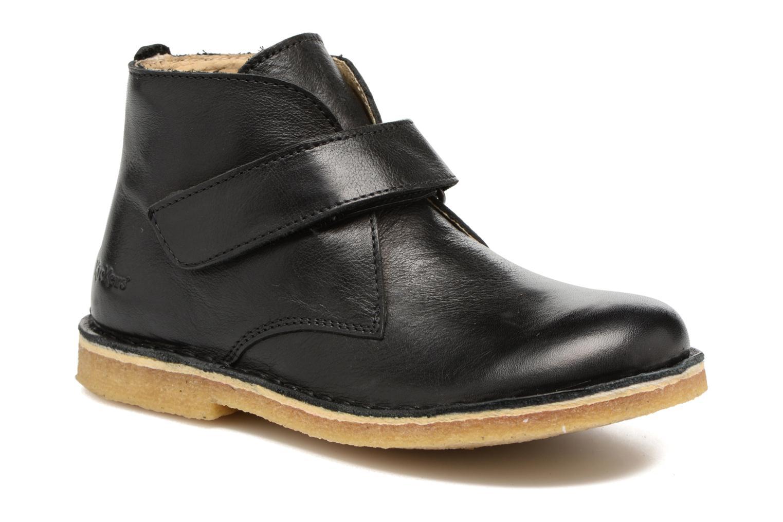 Chaussures à scratch Kickers Rekick Noir vue détail/paire