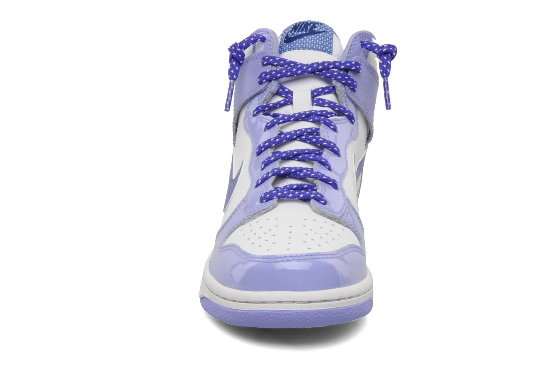 Baskets Nike Nike dunk high gg Violet vue portées chaussures