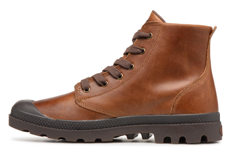 Bottines et boots Palladium Pampa hi leather M Marron vue face