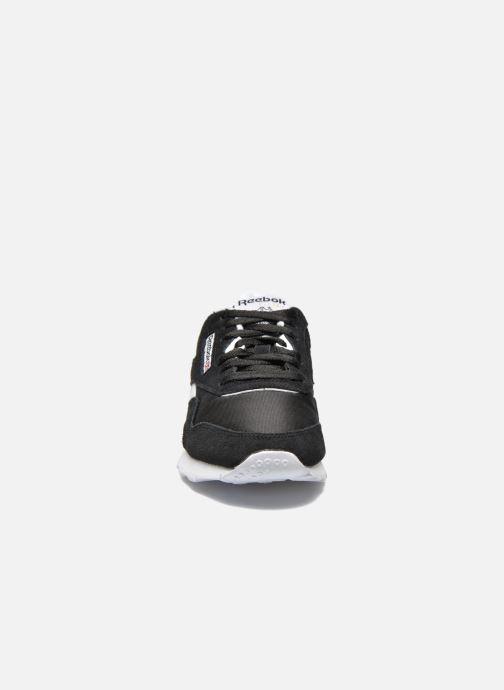 Sneaker Reebok Classic Nylon W schwarz schuhe getragen