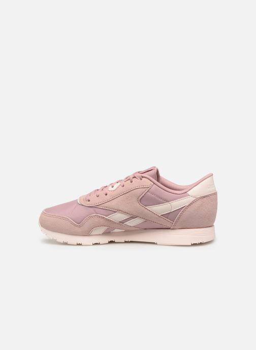 Sneaker Reebok Classic Nylon W rosa ansicht von vorne