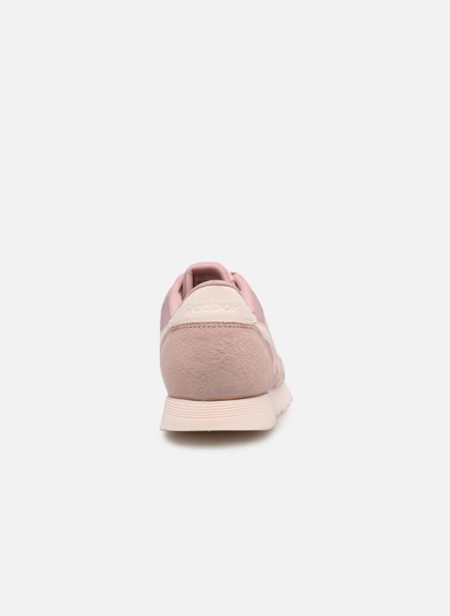 Trainers Reebok Classic Nylon W Pink view from the right