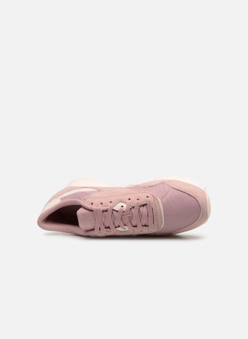 Sneaker Reebok Classic Nylon W rosa ansicht von links