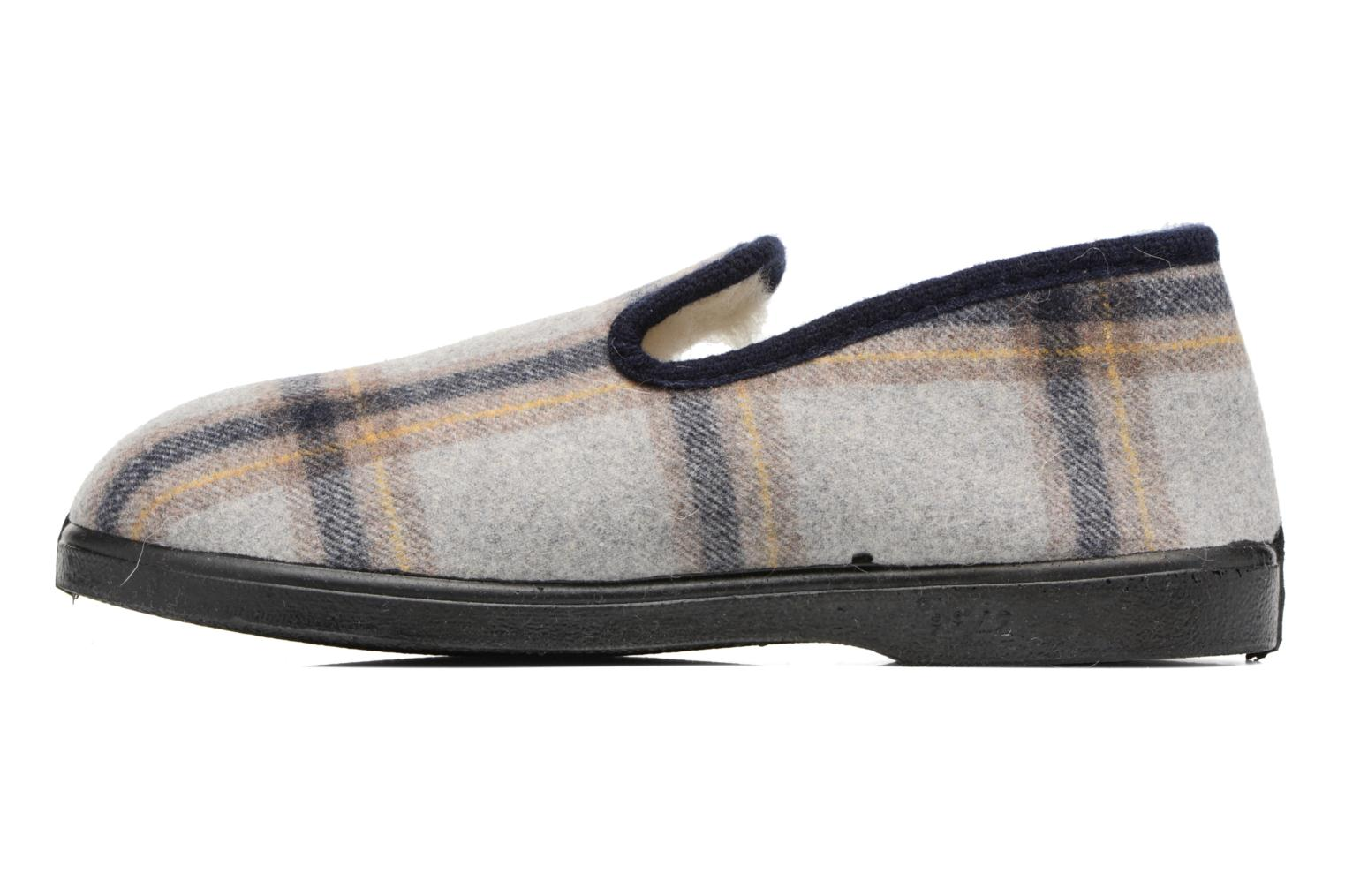 Slippers Rondinaud Morlaix Grey front view
