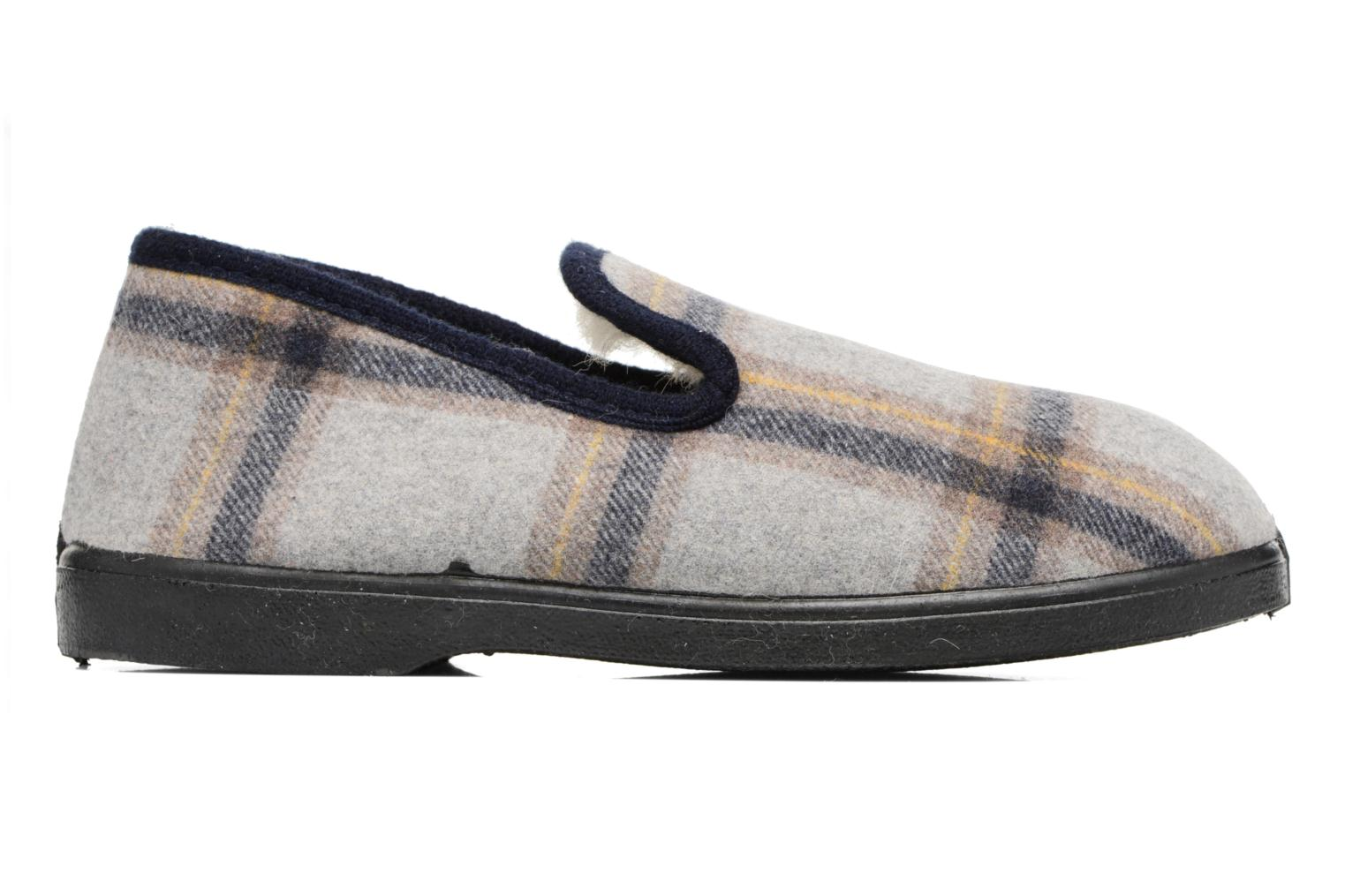 Slippers Rondinaud Morlaix Grey back view
