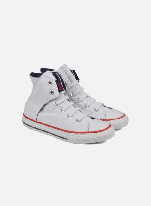 Trainers Converse Chuck taylor all star easy slip hi K White 3/4 view
