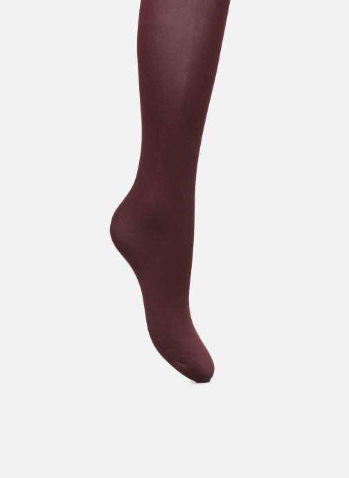 Chaussettes et collants Falke Collant pure matt 50 Bordeaux vue portées chaussures