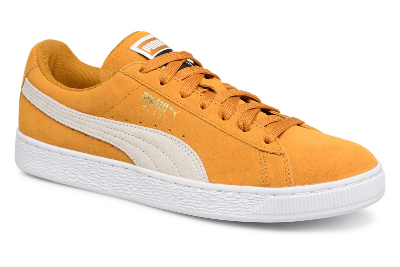Puma Suede Classic (Jaune) - Baskets en Más cómodo Dernières chaussures discount pour hommes et femmes