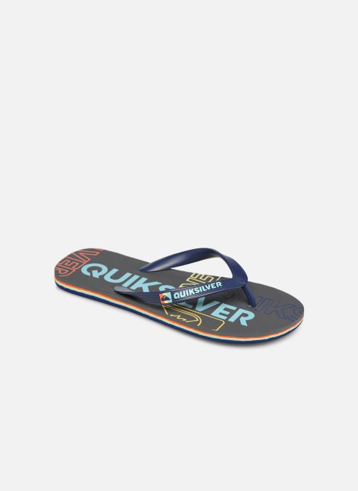 Flip flops Quiksilver Molokai nitro Blue detailed view/ Pair view
