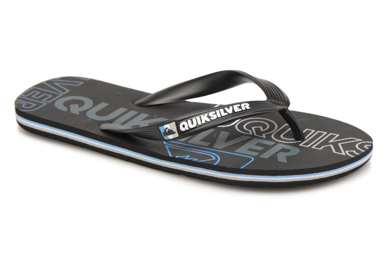 Slippers Quiksilver Molokai nitro Zwart detail