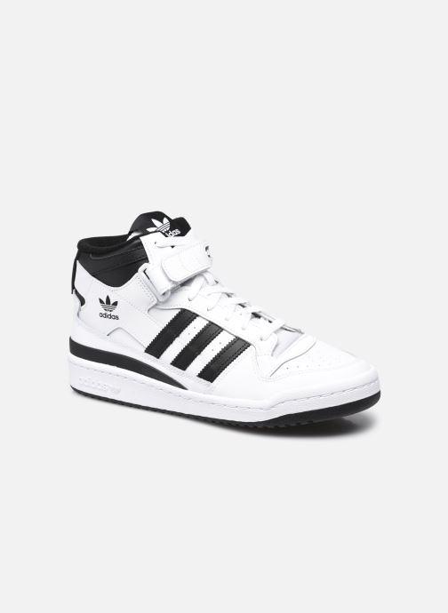 Baskets adidas originals Forum mid Blanc vue détail/paire