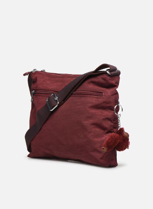 Handtaschen kipling Alvar weinrot ansicht von rechts