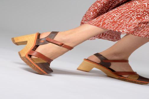 Sandales et nu-pieds Art Amsterdam 313 Marron vue bas / vue portée sac