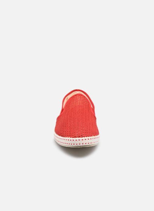 Mocassins Rivieras 20°c m Rouge vue portées chaussures