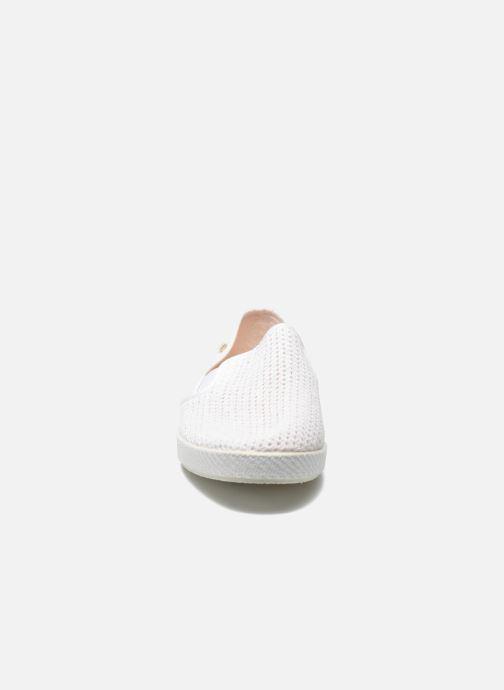 Mocassins Rivieras 30°c m Blanc vue portées chaussures