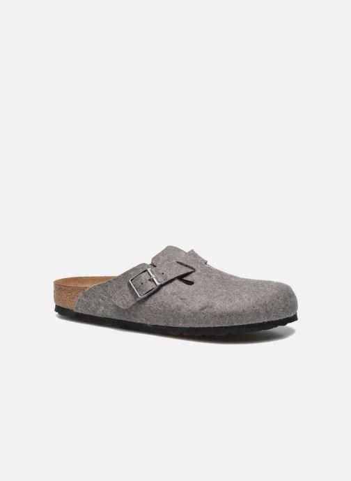 Sandales et nu-pieds Birkenstock Boston Laine M Gris vue détail/paire