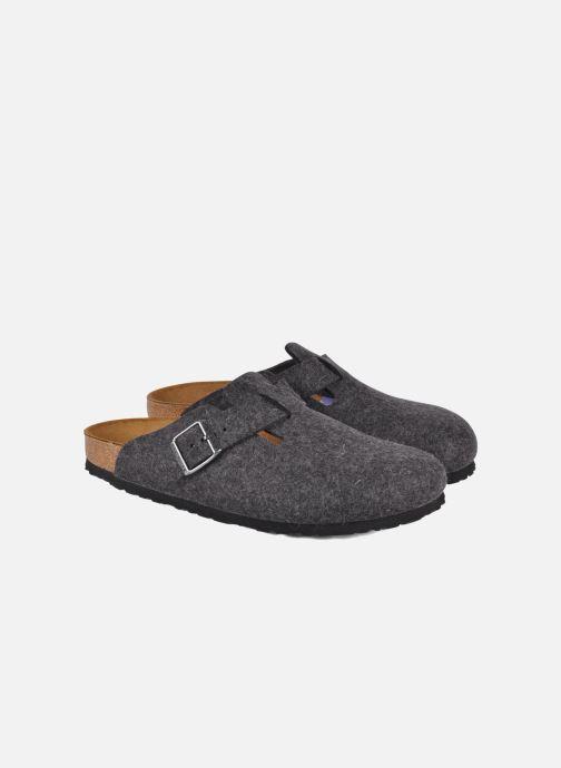 Sandals Birkenstock Boston Laine M Grey 3/4 view