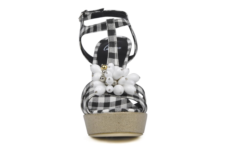 Sandales et nu-pieds Castaner Missy Noir vue portées chaussures