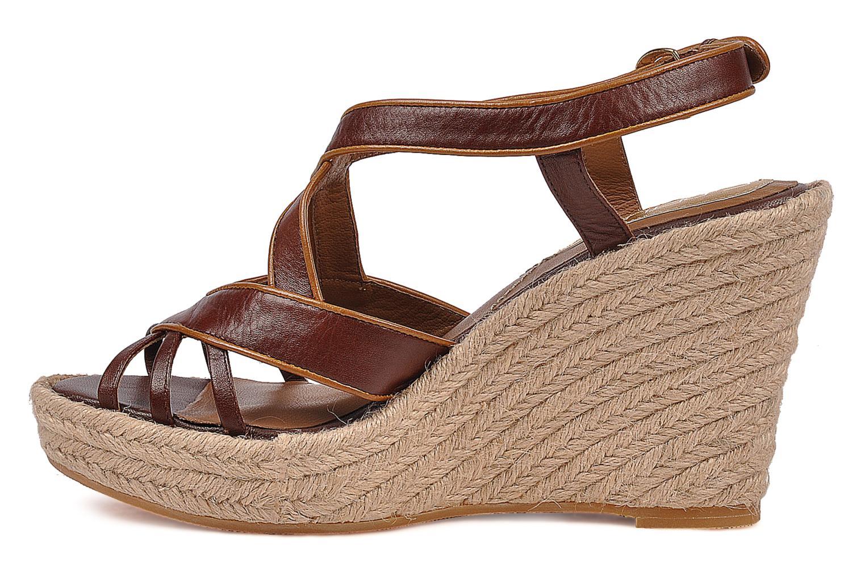 Sandales et nu-pieds C.Petula Leia Marron vue face