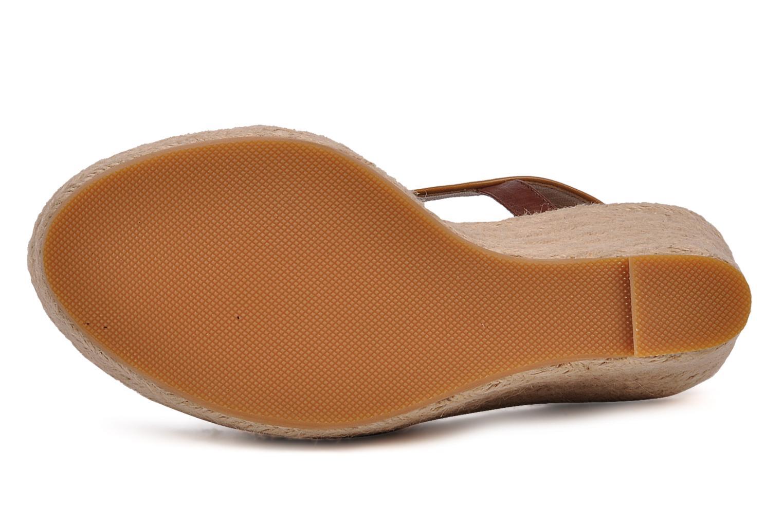 Sandales et nu-pieds C.Petula Leia Marron vue haut