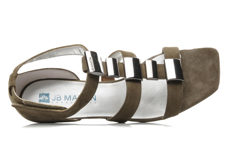 Sandales et nu-pieds JB MARTIN Iro Marron vue gauche
