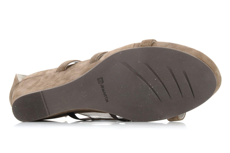 Sandales et nu-pieds JB MARTIN Byzance Marron vue haut