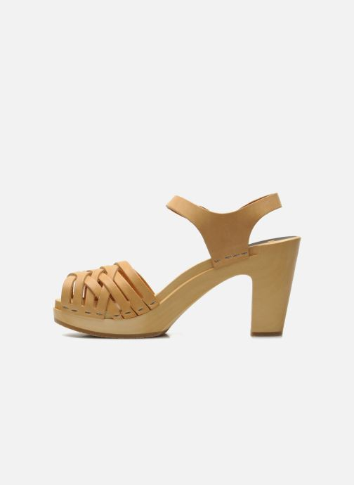 Sandali e scarpe aperte Swedish Hasbeens Braided sky high Beige immagine frontale