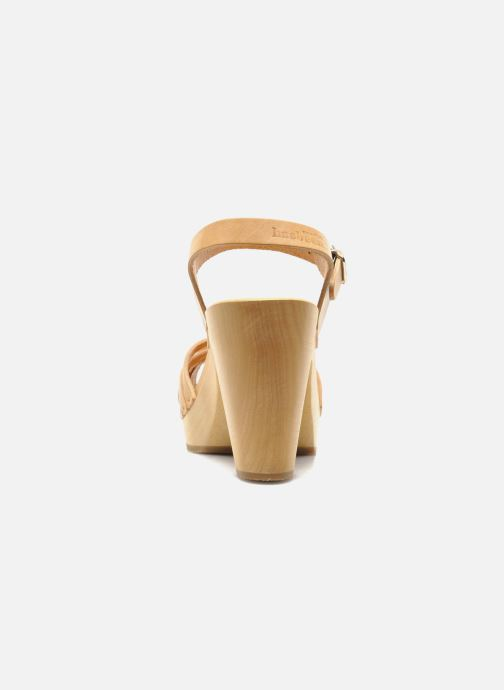 Sandals Swedish Hasbeens Braided sky high Beige view from the right