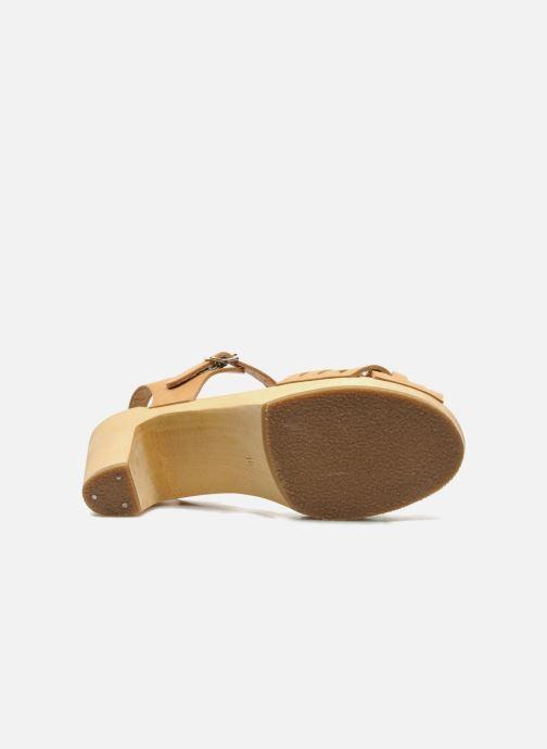Sandali e scarpe aperte Swedish Hasbeens Braided sky high Beige immagine dall'alto