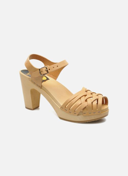 Sandali e scarpe aperte Swedish Hasbeens Braided sky high Beige vedi dettaglio/paio