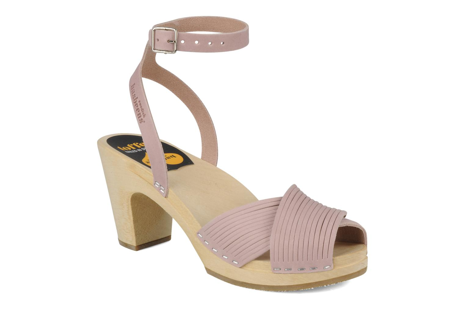 Sandalen Swedish Hasbeens Strappy Roze detail