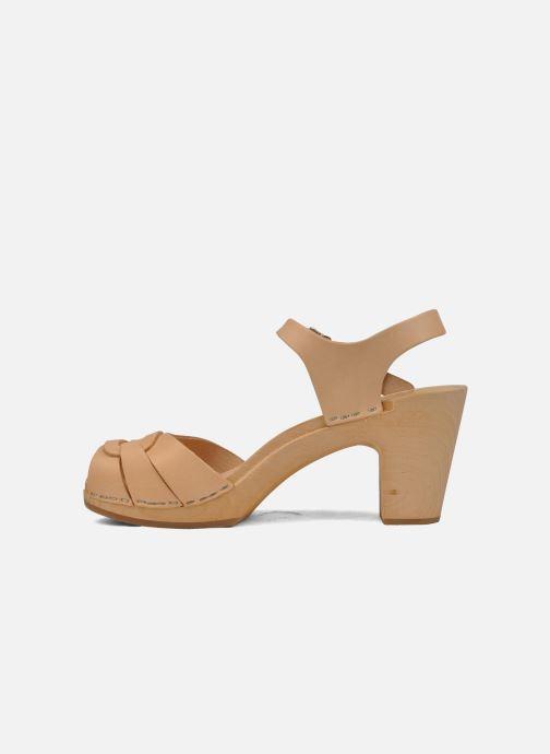Sandales et nu-pieds Swedish Hasbeens Peep toe super high Beige vue face